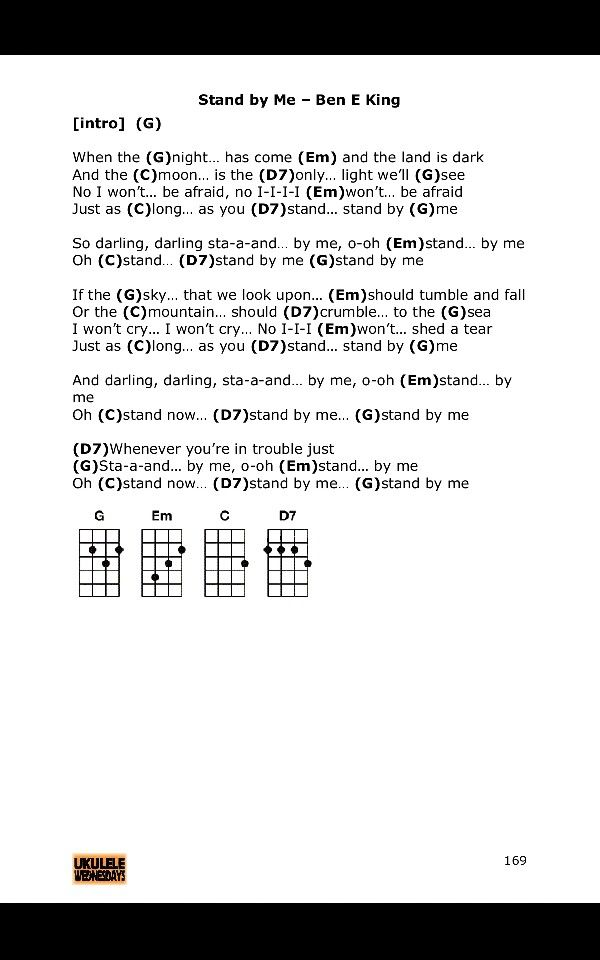 stand by me ukulele chords