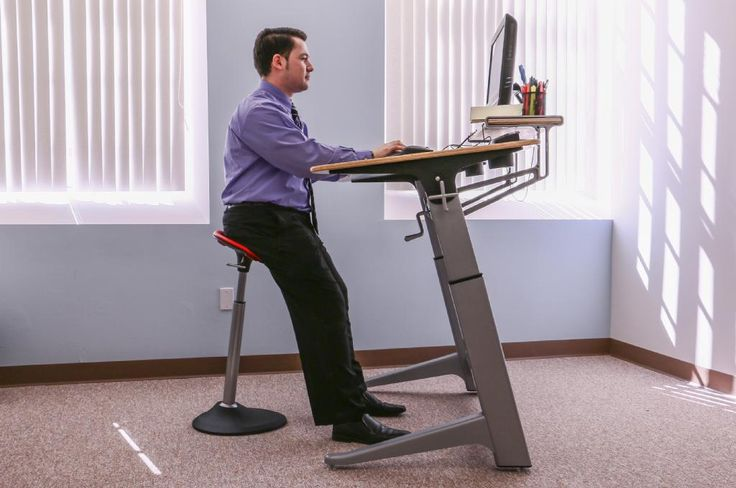 Our mobis leaning stool is an energy boost at any standing for Chairs for standing desks