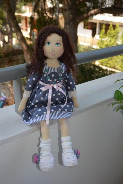 Eleni handmade doll - by Katerina Maletzidou