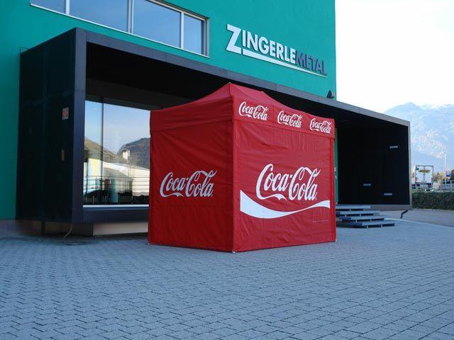 #CocaCola folding tent