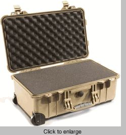 Pelican Case 1510 - FAA Carry On Approved For Airlines - TAN - click to enlarge