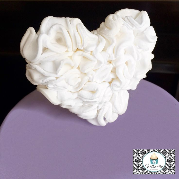 Ruffled heart! Perfect for a wedding or valentines!