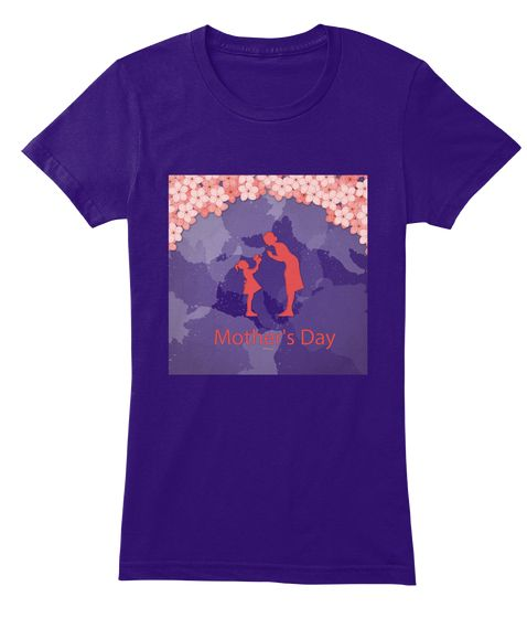 Love For Mother Purple Women's T-Shirt Front
