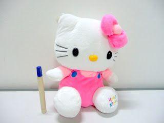 Boneka hello kitty pom-pom lucu