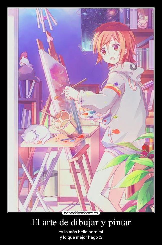 carteles arte anime desmotivaciones