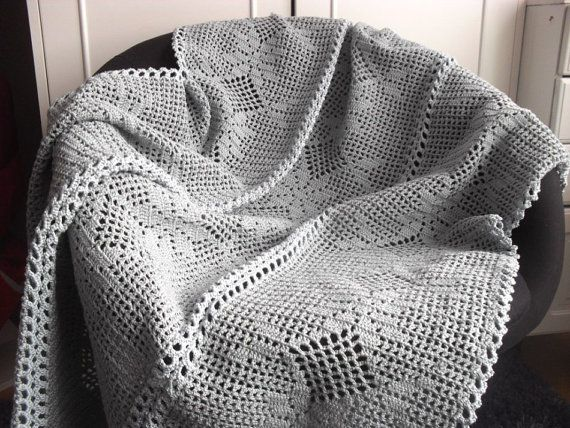 Crochet pattern Romantic blanket/bedspread by BlageCrochetDesign