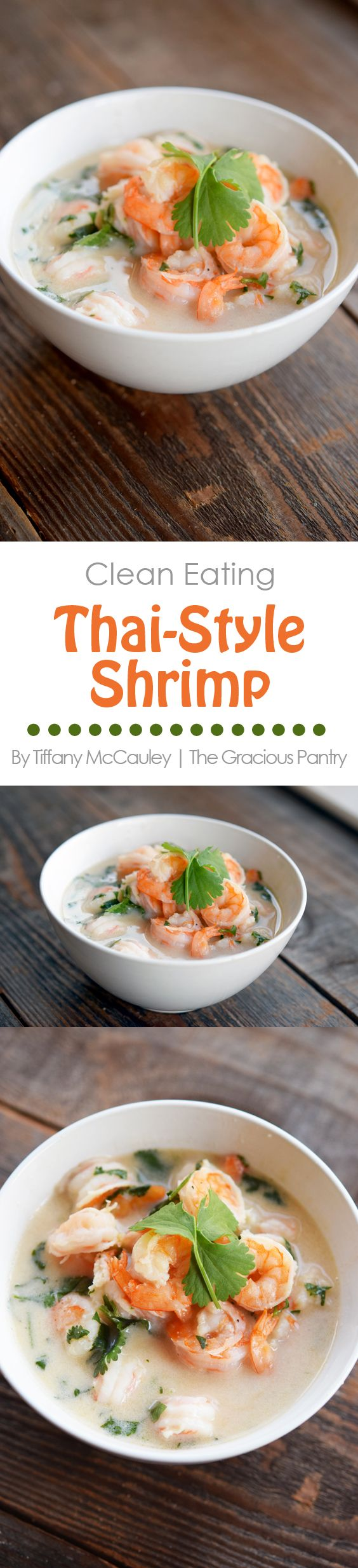 This delicious shrimp recipe is bursting with Thai flavors. Enjoy it as soup or as a topping over rice.