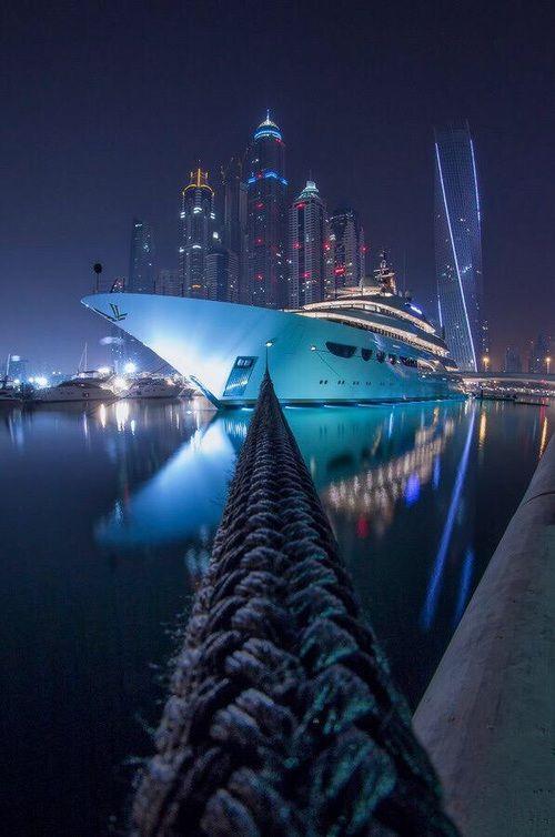 Imagen de Dubai, luxury, and night