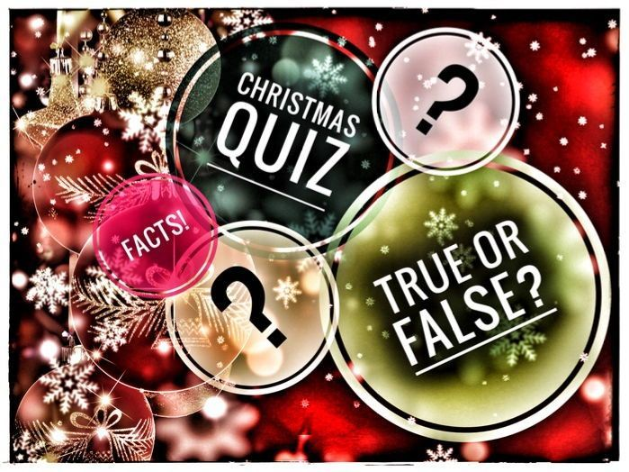 Christmas Fun Facts Quiz Game. True or False? #christmasfacts