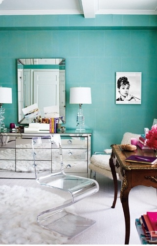 Stunning Home Offices To Sigh Over Interior Pinterest Tiffany Blue Rooms And