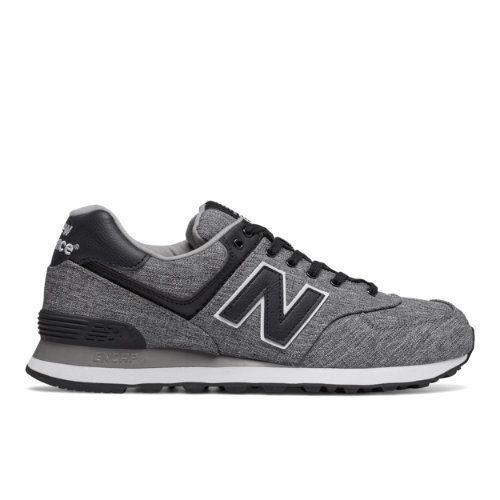 574 New Balance Men's 574 Shoes - Black/Grey/White (ML574TXE)