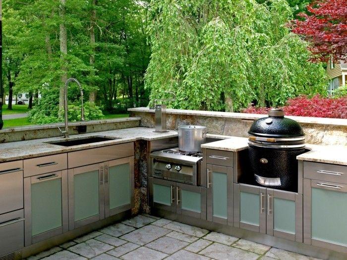 Outdoor Küche macht es möglich, köstliches Essen draußen zu genießen   Neu Haus Designs ...