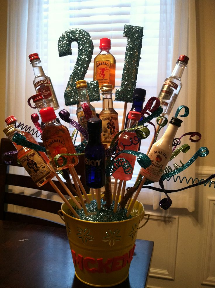 21st birthday shot bouquet I made :)