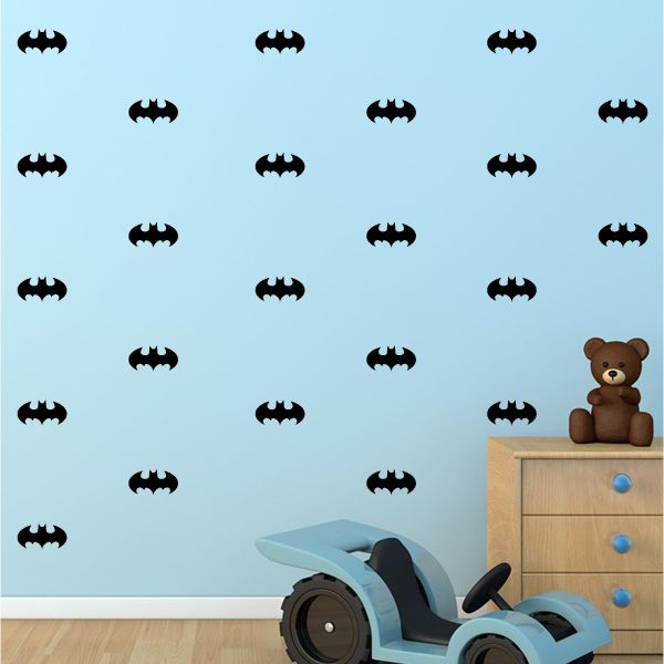 Mini Batman Wall Decals   Faux Wallpaper   Vivid Wall Decals. Great For A  Feature Part 91