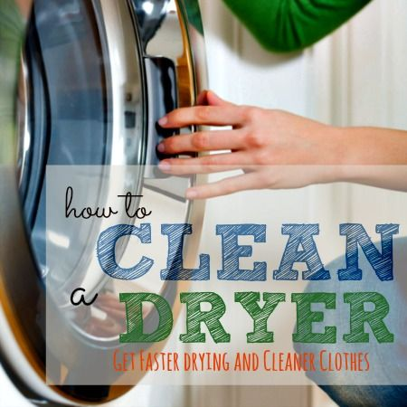 A clean dryer will dry clothes faster and keep stains from spreading. Here's how to clean your clothes dryer, including messes in the drum and lint build-up.