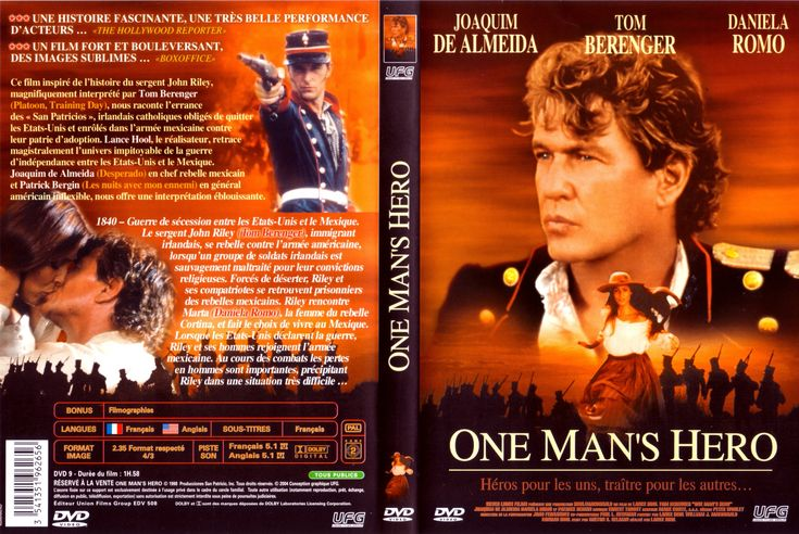 One Man's Hero -  The film is a dramatization of the true story of Jon Riley and the Saint Patrick's Battalion, a group of Irish Catholic immigrants who desert from the mostly Protestant U.S. Army to the mostly Catholic Mexican side during the Mexican-American War of 1846 to 18