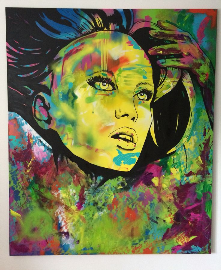 """Color is my life, painting called """"Charlotte"""", 120x100 cm by Ronald Hofman"""