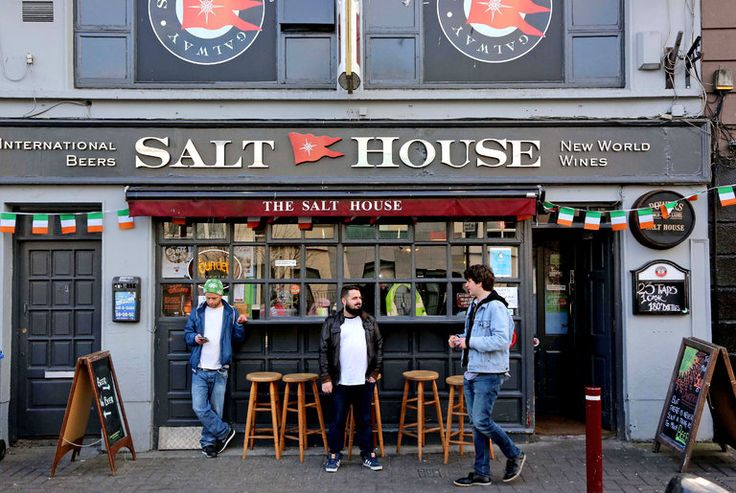 Outside of the Salthouse Bar, one of the pubs owned by Galway Bay Brewery.
