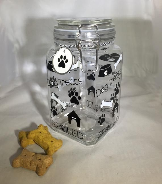 Personalized Dog Treat Jar Dog Treat Container Dog Biscuit Jar