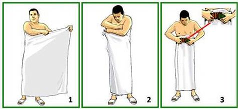 How To Wear Ihram according to the Sunnah