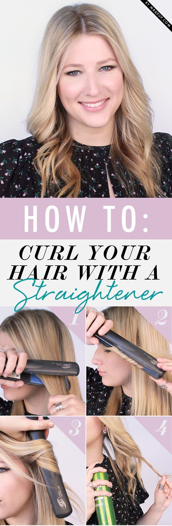 **Hair hacks - Trucos para el pelo: How to curl your hair with a straightener. Cómo rizarle el pelo con una plancha.