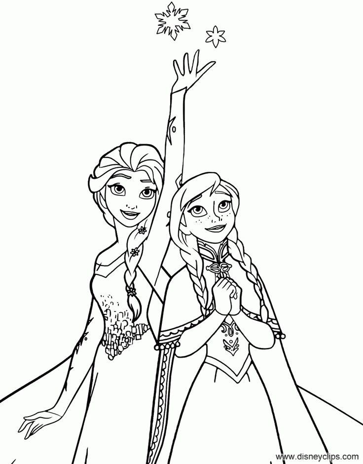 Elsa Magic Coloring Page elsa magic coloring page Frozen