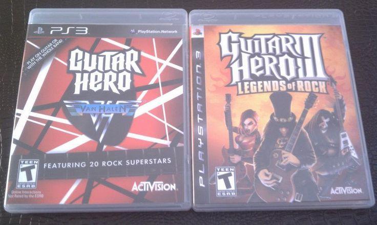 PS3 Guitar Hero II, Guitar Hero Van Halen & Guitar in Hast's Garage Sale Carroll, IA for $30.00. 2 Like New Guitar Hero Games with Guitar (guitar is standard one that comes with the games). The Van Halen one has hardly been played, the Guitar Hero II has been played a couple of times.