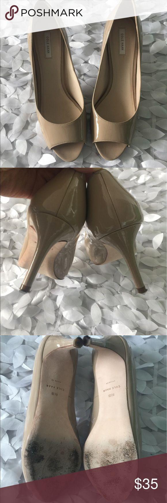 Cole Hann Patent Peep Toe Heel 8.5 Great condition Pre-owned Cole Hann peep toe 8.5 Cole Haan Shoes Heels