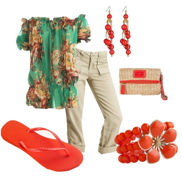 Outfit: Colors Combos, Dreams Closet, Style, Clothing, Fresh, Sheer Ruffles, Outfits Fo, Polyvore Outfits, Summer Outfits