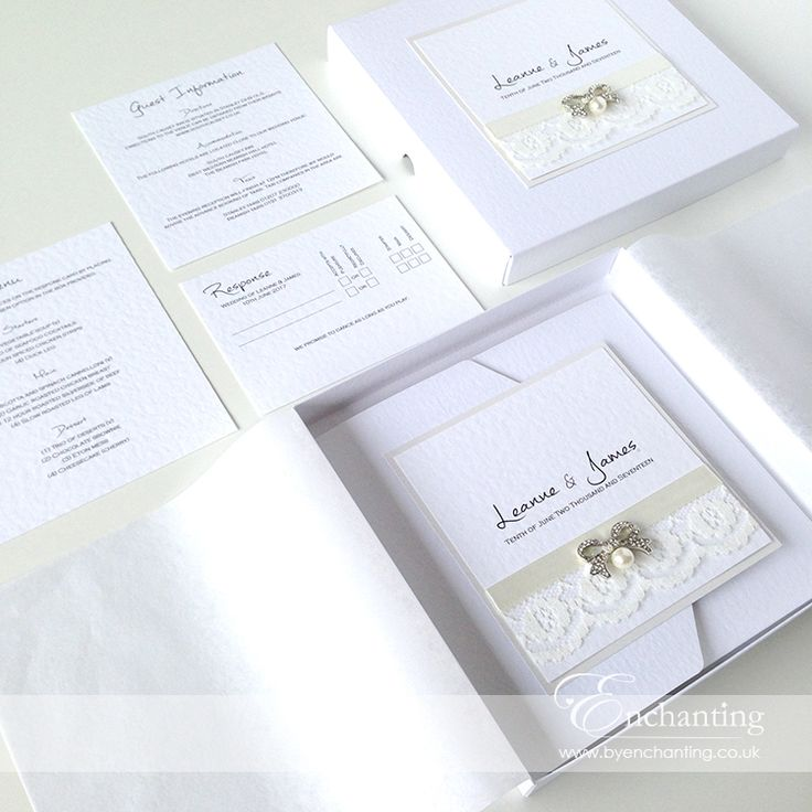 The Snow White Collection - Ivory Lace Invitation Suite