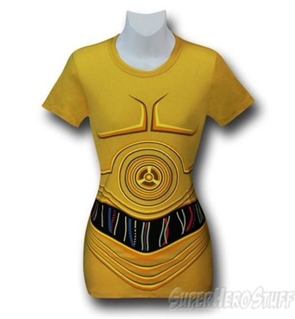 Boba Fett, C3PO and Darth Vader Costume Tees For The Ladies [T-Shirt]