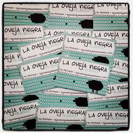 Etiquetas autoadhesivas para Tejidos La Oveja Negra, Los Andes. www.proyectaideas.cl