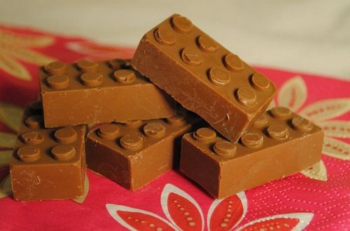 Chocolate Lego blocks