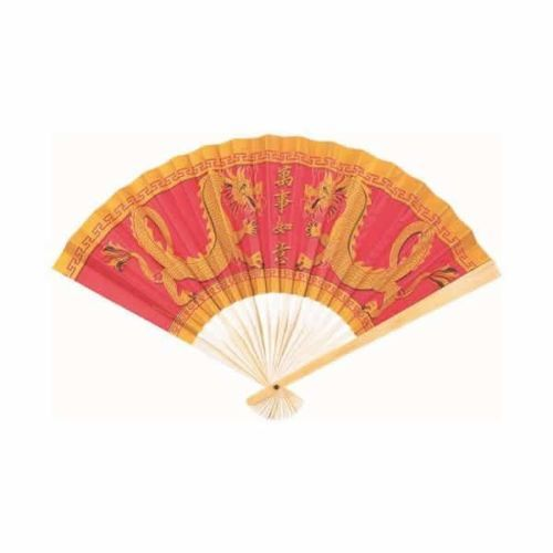 Chinese-New-Year-Oriental-Party-Supplies-Wooden-and-Paper-Decorative-Fan-23cm