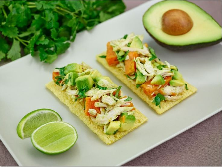 Sweet potato & lime avocado with chicken - recipe courtesy of Campbell Arnotts