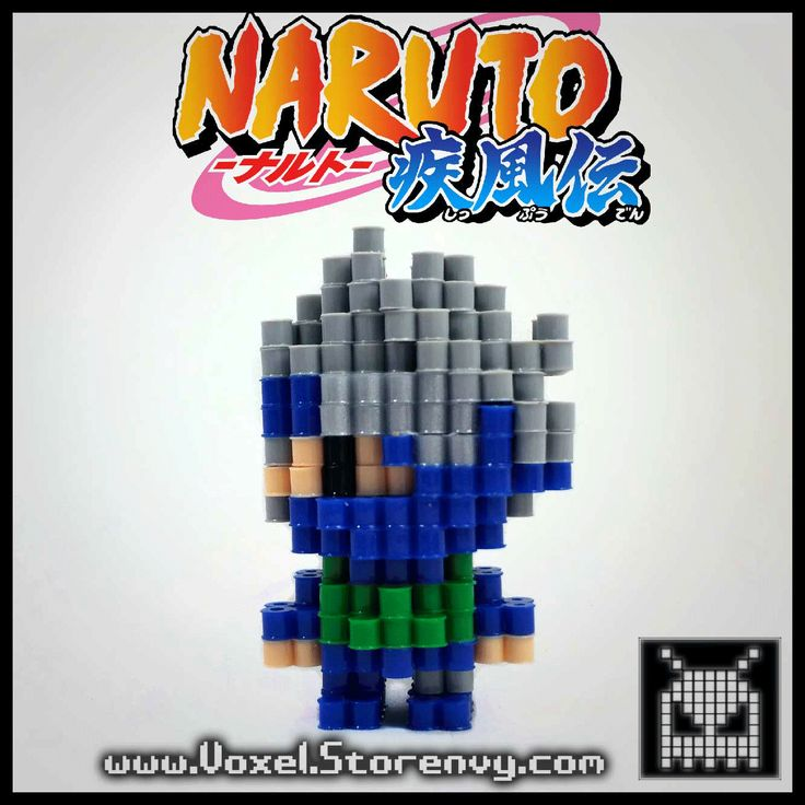 This+is+Kakashi+from+the+anime+(Naruto)+I+made+in+the+cool+new+3d+perlerbead+art+style!+It+is+for+sale+so+you+can+add+this+to+your+collection+today!  Products+are+made+to+order+and+do+take+about+a+week+to+make+depending+on+the+order,+please+be+patient  (Like+Voxel+on+Facebook!)+ http://faceb...