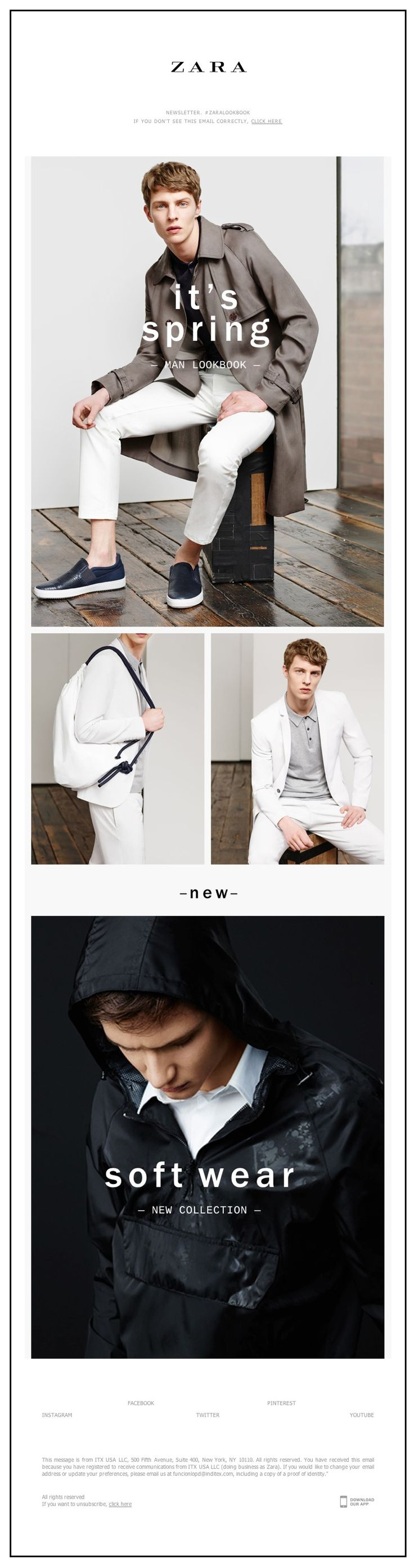 ZARA - Man: New Spring Lookbook. Now online and in stores