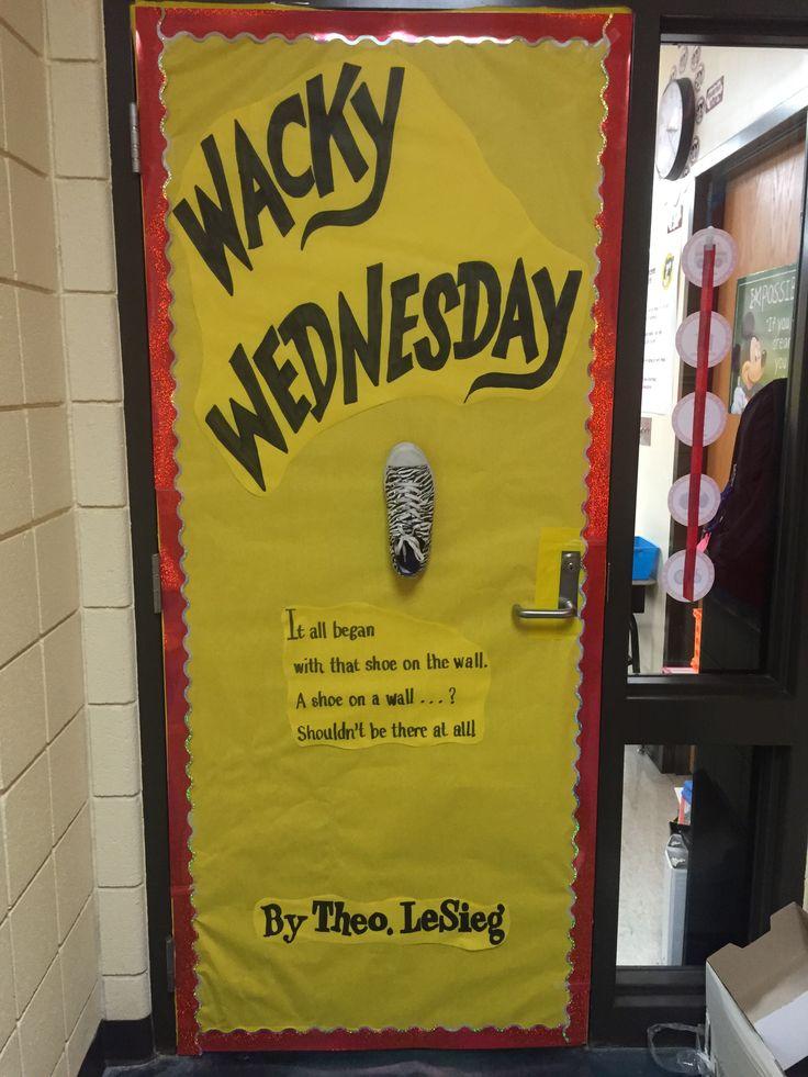 Dr. Seuss Wacky Wednesday classroom door decoration