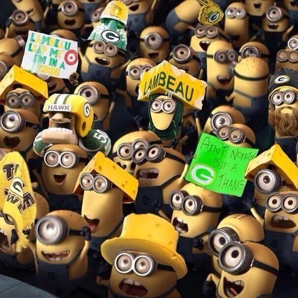Minions invade Lambeau Field!
