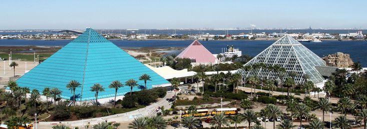 Moody Gardens Theme Park | rainforest ecopark, aquarium, ropes courses, water park, science museum | Galveston, Texas