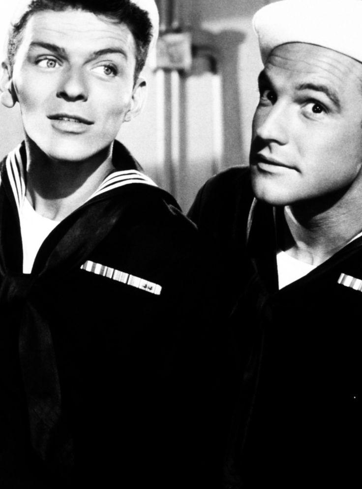 """Gene Kelly y Frank Sinatra en """"Levando Anclas"""" (Anchors Aweigh), 1945"""