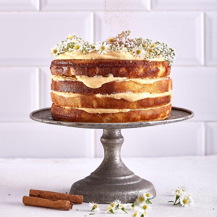 Turn a South African milk tart into a milk tart cake!