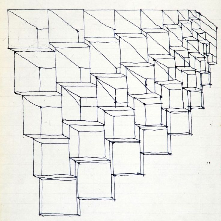 Enzo Mari, 1963, Studio per la programmazione di una struttura mai realizzata…