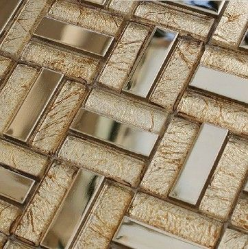 Stainless steel tile backsplash kitchen glass tiles glass mosaic bathroom tiles - modern - bathroom tile - other metro - My Building Shop