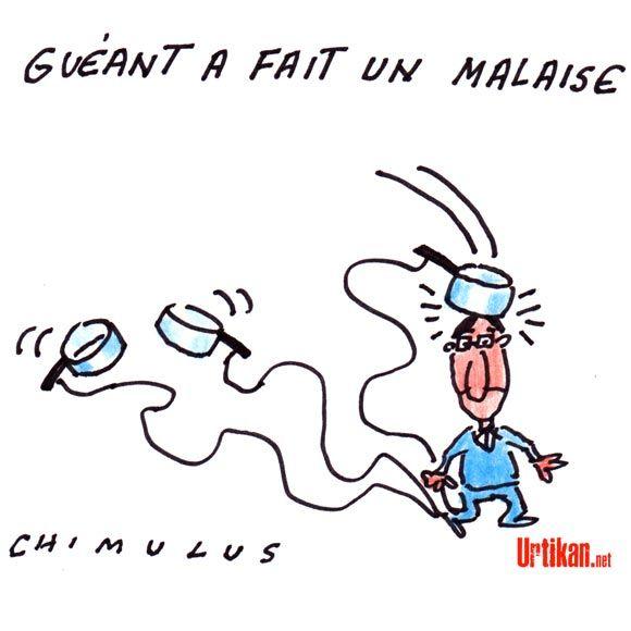 L'ex-ministre Claude Guéant hospitalisé après un malaise - Dessin du jour - Urtikan.net