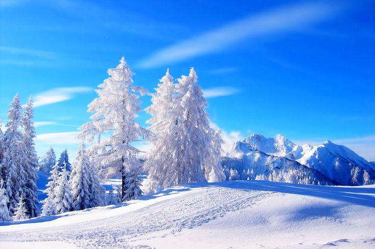 winter snow background image