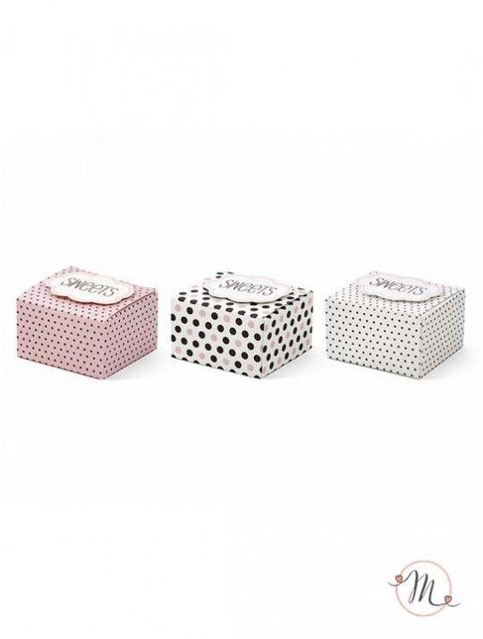 Box porta dolci love. Box in tre modelli assortiti per realizzare bomboniere…