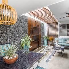 PATIO I SA: Jardines de estilo moderno por SZTUKA  Laboratorio Creativo de Arquitectura