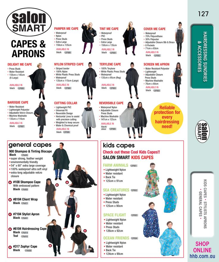 salon SMART - Capes & Aprons Different types of kids & general capes and aprons #salonproduct