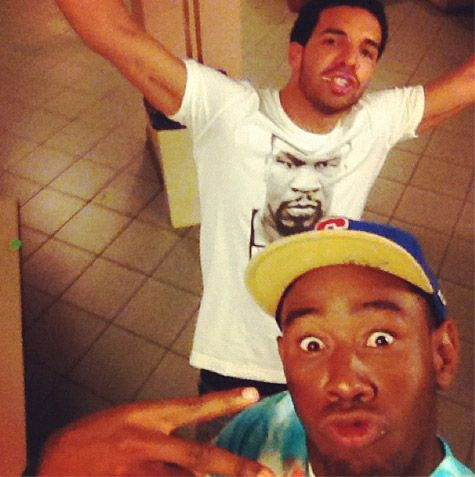 Drake and Tyler The Creator Backstage at Frank Ocean Tour (Photo)